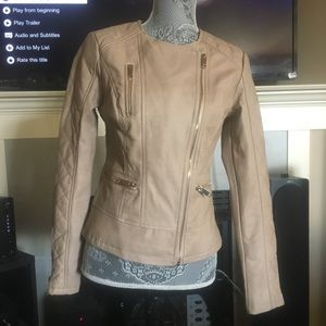 Charlotte Russe Quilted Faux Leather jacket